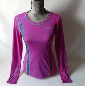 Fila women's purple long sleeve athletic top